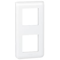 LEGRAND 078822 Декоративная рамка M45, 2Х2М, вертикальная установка, белая, Mosaic