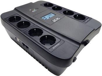 PowerCom SPD-1100U LCD USB Источник бесперебойного питания Line-Interactive, 1100VA / 605W, 8xEURO: 4 с резервным питанием, 4 с фильтрацией, USB/USB-порт зарядки 2.4 А