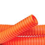 DKC / ДКС 71550 Труба ПНД гибкая гофрированная д.50 мм, тяжёлая с протяжкой, 15м, цвет оранжевый