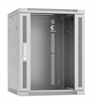 """Cabeus SH-05F-15U60/60-R Шкаф телекоммуникационный настенный разобранный 19"""" 15U 600x600x769mm (ШхГхВ) дверь стекло"""
