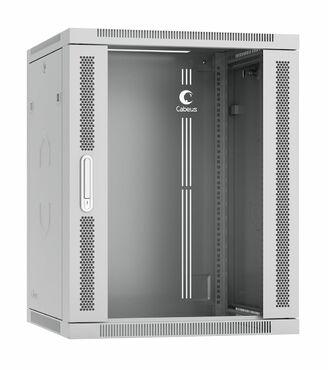 """Cabeus SH-05F-15U60/35-R Шкаф телекоммуникационный настенный разобранный 19"""" 15U 600x350x769mm (ШхГхВ) дверь стекло"""