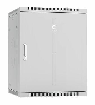 """Cabeus SH-05F-15U60/60m-R Шкаф телекоммуникационный настенный разобранный 19"""" 15U 600x600x769mm (ШхГхВ) дверь металл"""