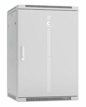 """Cabeus SH-05F-18U60/60m-R Шкаф телекоммуникационный настенный разобранный 19"""" 18U 600x600x901mm (ШхГхВ) дверь металл"""