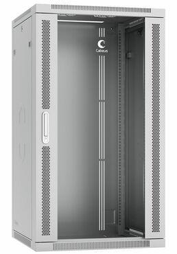 """Cabeus SH-05F-22U60/60-R Шкаф телекоммуникационный настенный разобранный 19"""" 22U 600x600x1082mm (ШхГхВ) дверь стекло"""