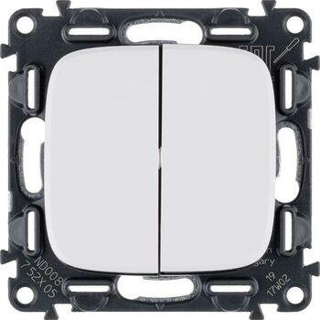 Механизм выключателя 2-кл. СП Valena Allure 10А IP20 250В с лиц. панелью безвинт. зажимы бел. Leg 752705