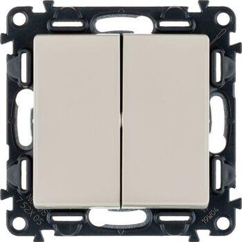 Механизм выключателя 2-кл. СП Valena Life 10А IP20 250В с лиц. панелью безвинт. зажимы сл. кость Leg 752505