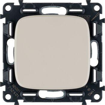 Механизм выключателя 1-кл. СП Valena Allure 10А IP20 250В 10AX с лиц. панелью безвинт. зажимы сл. кость Leg 752801