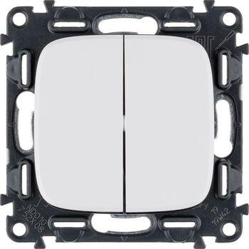 Механизм переключателя 2-кл. СП Valena Allure 10А IP20 250В с лиц. панелью безвинт. зажимы бел. Leg 752708