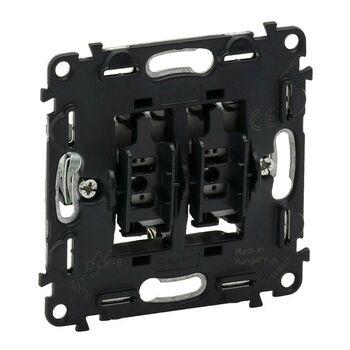 Механизм переключателя 2-кл. СП Valena In'matic 10А IP20 250В безвинт. зажимы сер. Leg 752028