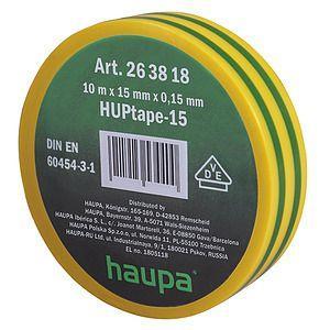 Изолента ПВХ 19мм (рул.20м) d74мм желто-зел. HAUPA 263860