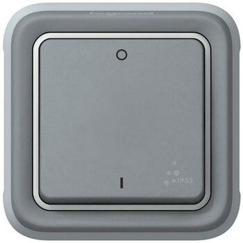 Механизм выключателя 1-кл. 2п СП Plexo 10А IP55 10AX сер. Leg 069530