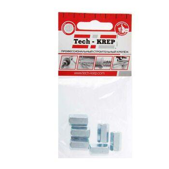 Гайка соединительная М6 цинк. DIN 6334 (уп.6шт) пакет Tech-Krep 112282