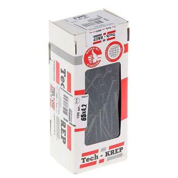 Саморез 4.2х65 гипсокартон-дерево (уп.100шт) коробка Tech-Krep 102126