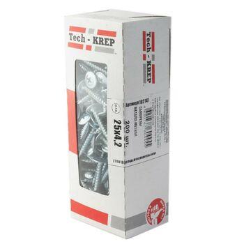 Саморез для тонкого метал. листа 4.2х25 (уп.200шт) коробка Tech-Krep 102141