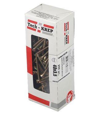 Шуруп универсальный 3.5х40 с потайной головкой (уп.200шт) коробка желт. Tech-Krep 102236