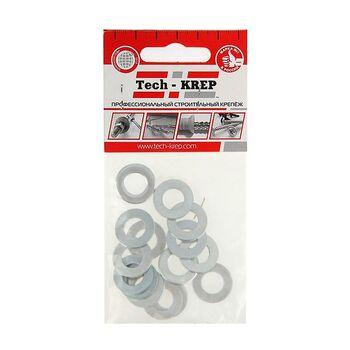 Шайба плоская М10 цинк. DIN 125 (уп.15шт) пакет Tech-Krep 103046