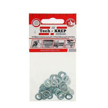Шайба плоская М6 цинк. DIN 125 (уп.40шт) пакет Tech-Krep 103044