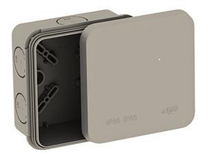 Коробка распределительная ОП 85х85х45мм двухкомпонентная 8 вводов IP65 сер. Ruvinil 67240