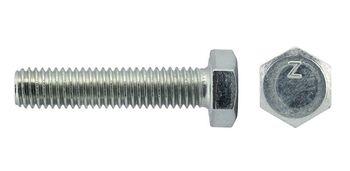 Болт М8х40 с шестигранной головкой цинк. DIN 933 (уп.25шт) класс прочности 8.8. коробка Tech-Krep 144943