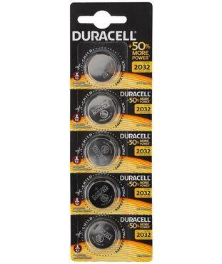Элемент питания CR2032 5х1 (блист.20шт) Duracell Б0035495