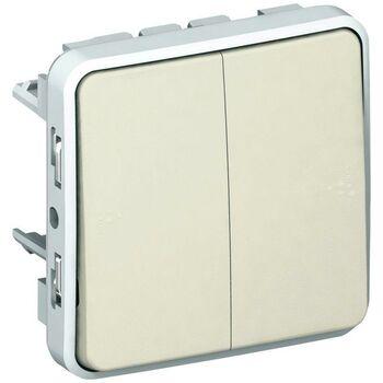 Механизм переключателя на 2 направления 2-кл. СП Plexo 10А IP55 10AX бел. Leg 069625