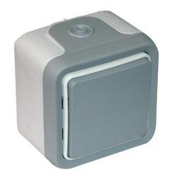 Переключатель промежуточный 1-кл. ОП Plexo 10А IP55 250В 10AX сер. Leg 069716