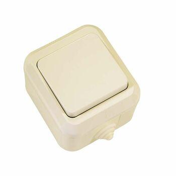 Выключатель 1-кл. ОП 10А IP44 п/герм. крем. Makel 18200