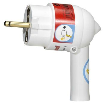 Вилка электрич. каб. Helium 16А 2P+E с выталкивающей кнопкой бел. Leg 050175