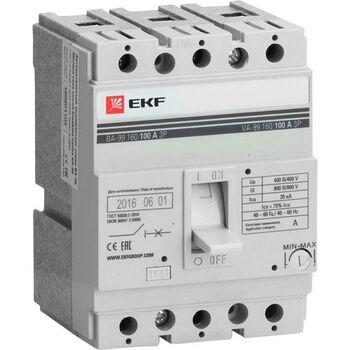 Выключатель автоматический 3п 160/125А 35кА ВА-99 PROxima EKF mccb99-160-125