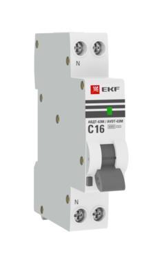 Выключатель автоматический дифференциального тока 1мод. C 10А 30мА тип AC 6кА АВДТ-63М электрон. PROxima EKF DA63M-10-30
