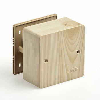 Коробка универсальная для кабель-каналов 85х85х42 сосна (светл. основа) IP40 Ruvinil 65015-27М