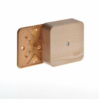 Коробка универсальная для кабель-каналов 80х80х25 сосна (светл. основа) IP40 Ruvinil 65005-27М