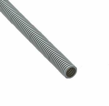 Труба гофрированная ПВХ d25мм с протяжкой сер. (50м) Ruvinil 12501