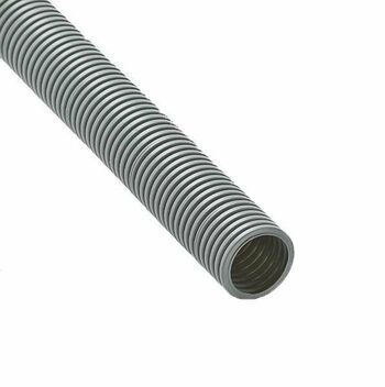 Труба гофрированная ПВХ d40мм с протяжкой сер. (15м) Ruvinil 14001