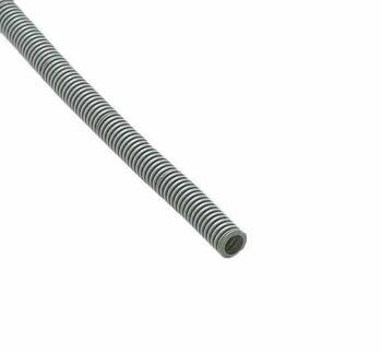 Труба гофрированная ПВХ d16мм с протяжкой сер. (100м) Ruvinil 11601(100)