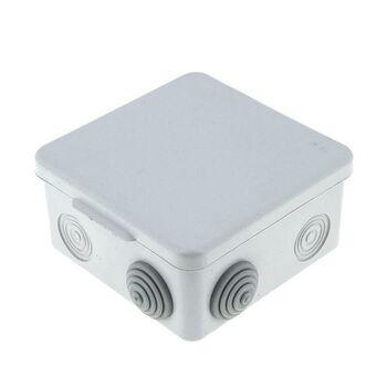 Коробка распаячная КМР-030-031 наружная с крышкой 80х80х50 АБС 7 мембранных вводов IP54 EKF plc-kmr-030-031