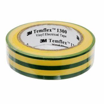 Изолента ПВХ 15мм Temflex 1300 желт./зел. (рул.10м) 3М 7100081324