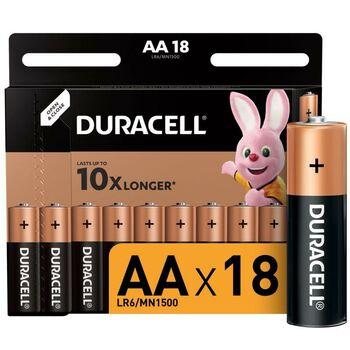 Элемент питания алкалиновый LR6-18BL BASIC (блист.18шт) Duracell Б0014448