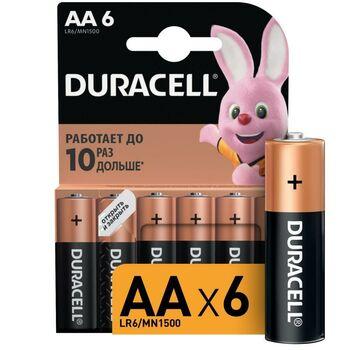Элемент питания алкалиновый LR6-6BL BASIC (блист.6шт) Duracell Б0014859