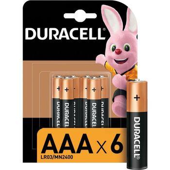 Элемент питания алкалиновый LR03-6BL BASIC (блист.6шт) Duracell Б0014858