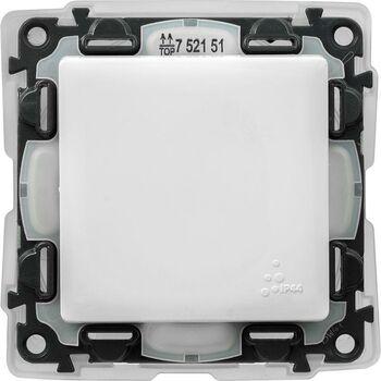 Механизм выключателя 1-кл. СП Valena Life 10А IP44 250В 10AX с лиц. панелью безвинт. зажимы бел. Leg 752151