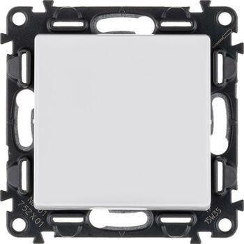 Механизм выключателя 1-кл. СП Valena Life 10А IP20 250В 10AX с лиц. панелью безвинт. зажимы бел. Leg 752401