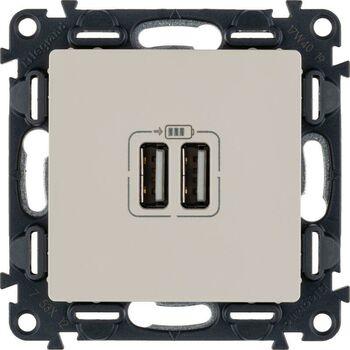 Механизм розетки USB Valena Life 2 разъема 240В/5В 1500мА с лиц. панелью сл. кость Leg 753512