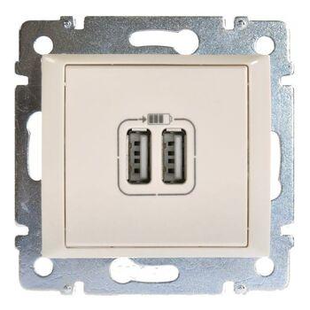 Механизм розетки 1-м USB 2мод. СП Valena сл. кость (DIY-упак.) Leg 694372