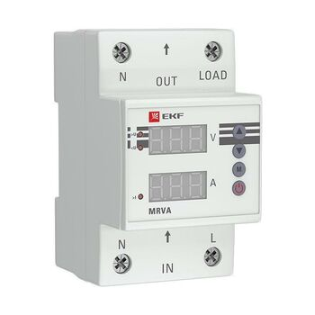 Реле напряжения и тока с дисплеем MRVA 63А PROxima EKF MRVA-63A
