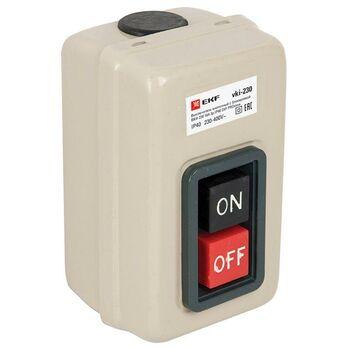 Выключатель кнопочный с блокировкой ВКИ-230 3п 16А IP40 PROxima EKF vki-230
