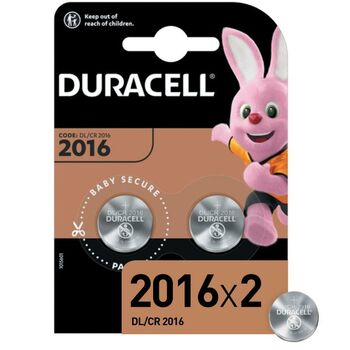 Элемент питания литиевый CR DL 2016 BP-2 (блист.2шт) Duracell Б0037271