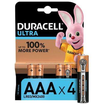 Элемент питания алкалиновый LR03-4BL Ultra (блист.4шт) Duracell Б0038762