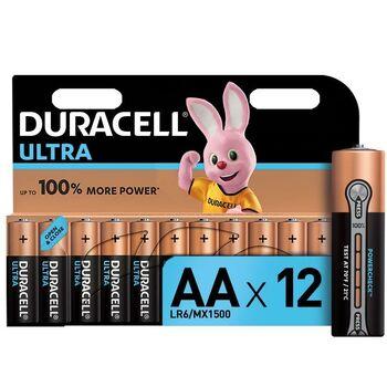 Элемент питания алкалиновый LR6-12BL Ultra (блист.12шт) Duracell Б0038766