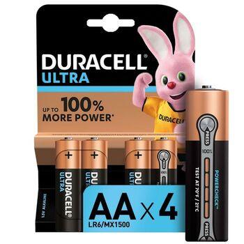 Элемент питания алкалиновый LR6-4BL Ultra (блист.4шт) Duracell Б0038761